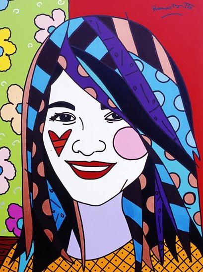 Range of Arts - Romero Britto - Original Portraits Paintings - Liza