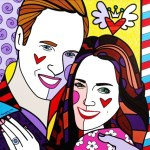 Range of Arts - Romero Britto - Original Portraits Paintings - Prince William and Catherine Middleton
