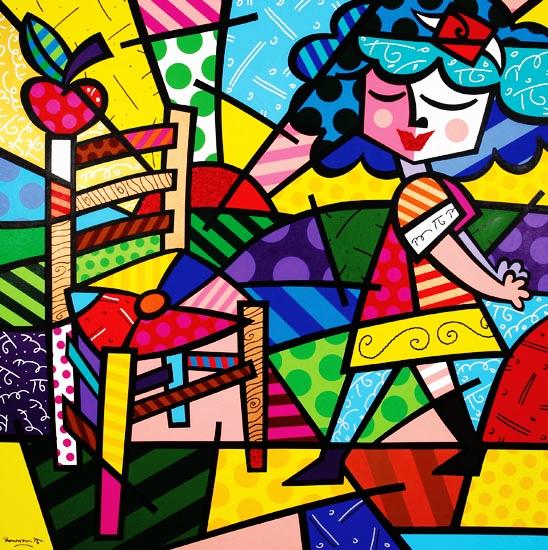 Range of Arts - Romero Britto - Original Artworks - Summer Chair