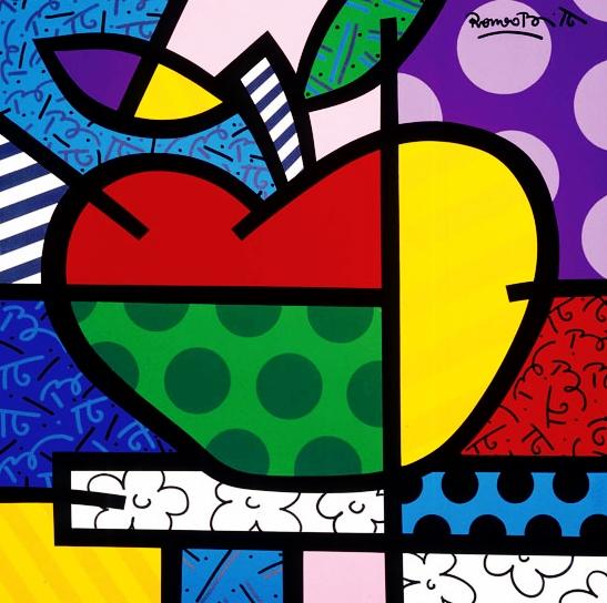 Range of Arts - Romero Britto - Original Artworks - The Apple