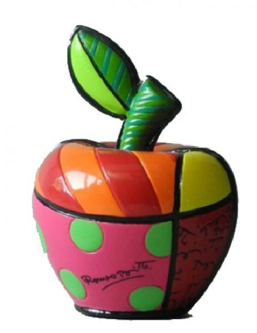 Range of Arts - Romero Britto - Sculpture - Mini Apple