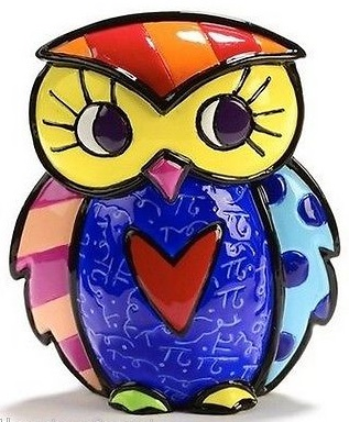 Range of Arts - Romero Britto - Sculpture - Mini Owl Courage