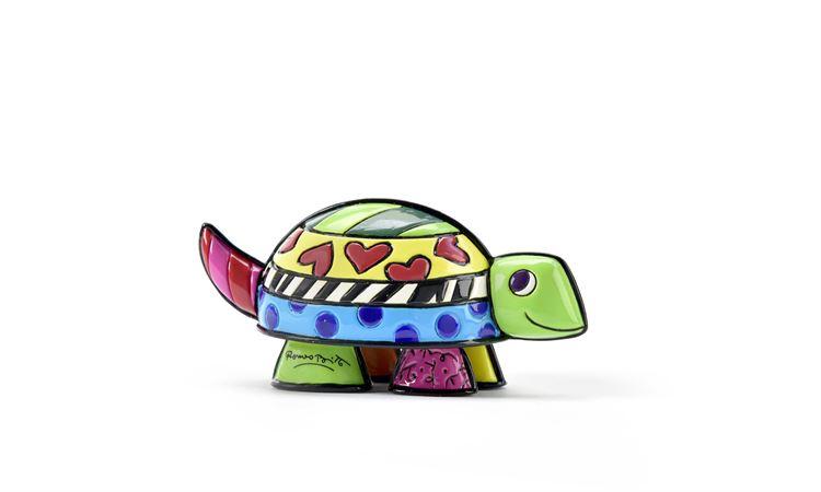 Range of Arts - Sculpture - Romero Britto - Mini Turtle Fast