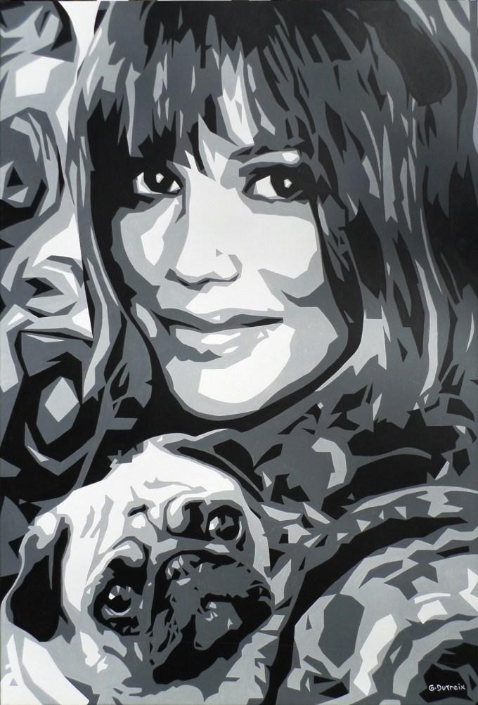 gérard dutreix art artiste peintre noir et blanc portrait