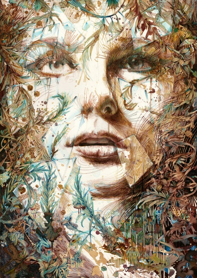 carne griffiths ink tea vodka painting artwork art painting
