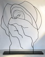 laure simoneau lor sculpture fil de fer ironwire shadow portraits
