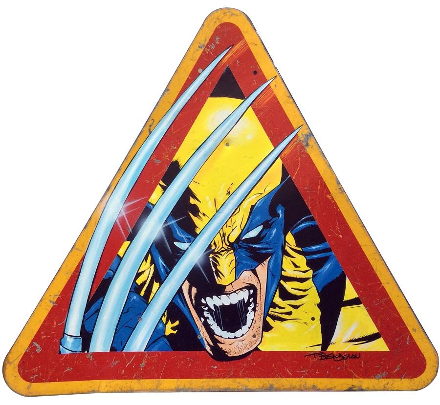 thierry beaudenon artiste street art dessin superheroes comics honfleur wolverine