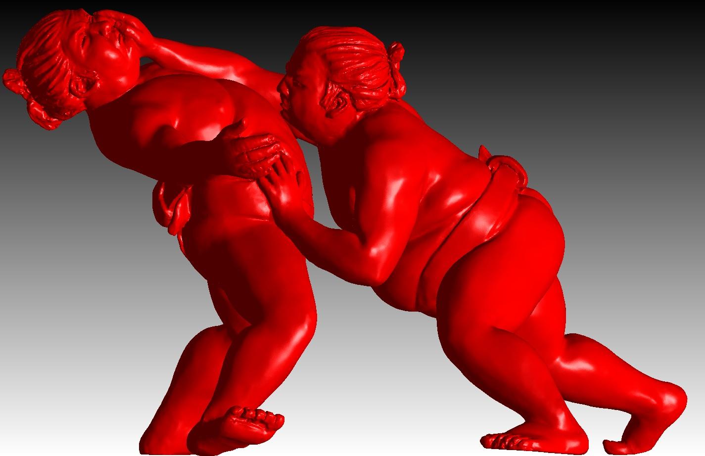 alexandra gestin artist sumo sculpture bronze resin outdoor honfleur buy