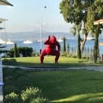outdoor sumo sculpture by artist Alexandra Gestin