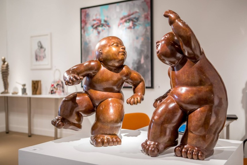 mariela garibay sculptures range of arts gallery art nocturne knocke 2018 fair collectors art enthusiasts belgium international