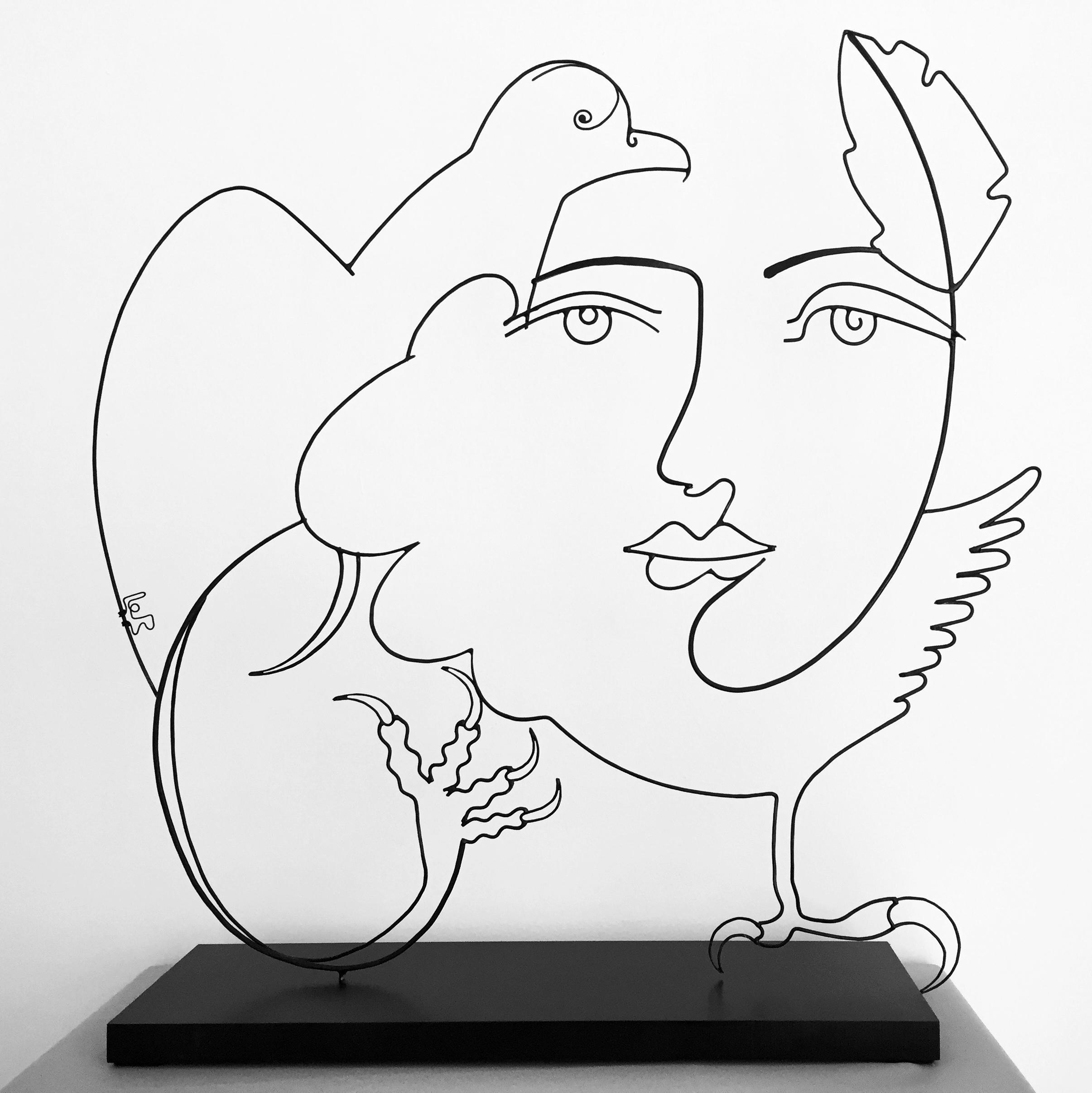 unique and original wire artwork french artist laure simoneau for sale