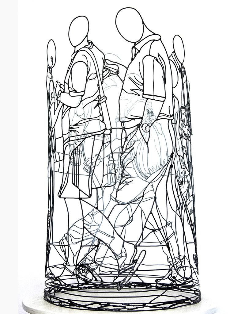 Wire sculpture by French artist Amimono available at Range of Arts Gallery Honfleur