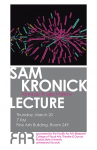 Sam Kronick lecture poster (2014)