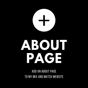 add an about page to my mix and match wordpress website