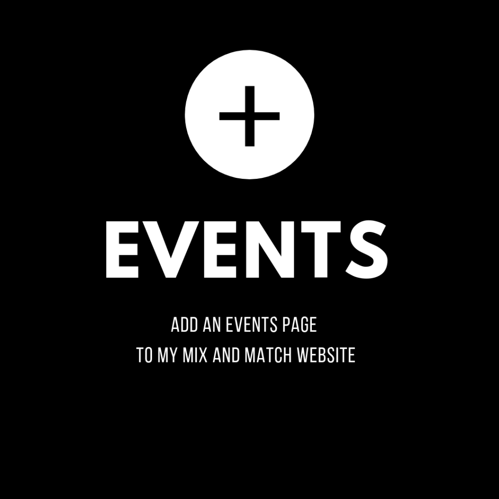 add events page to my online wordpress store