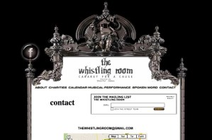 Creative nonprofit organization website - Whistling Room New Jersey