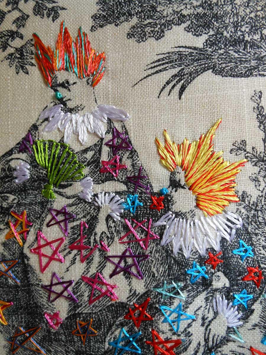 Toile Embroidery Art by Richard Saja  ArtStormer