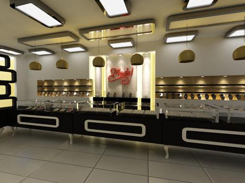 Model Kuyumculuk İçin yapılan 3 boyutlu tasarım ,kuyumcu dekorasyon,kuyumcu banko
