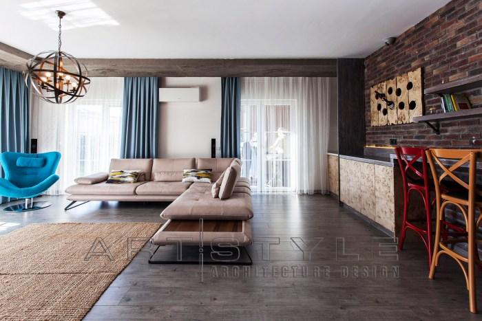 villa dekorasyonları, villa dekorasyon, bodrum kat country