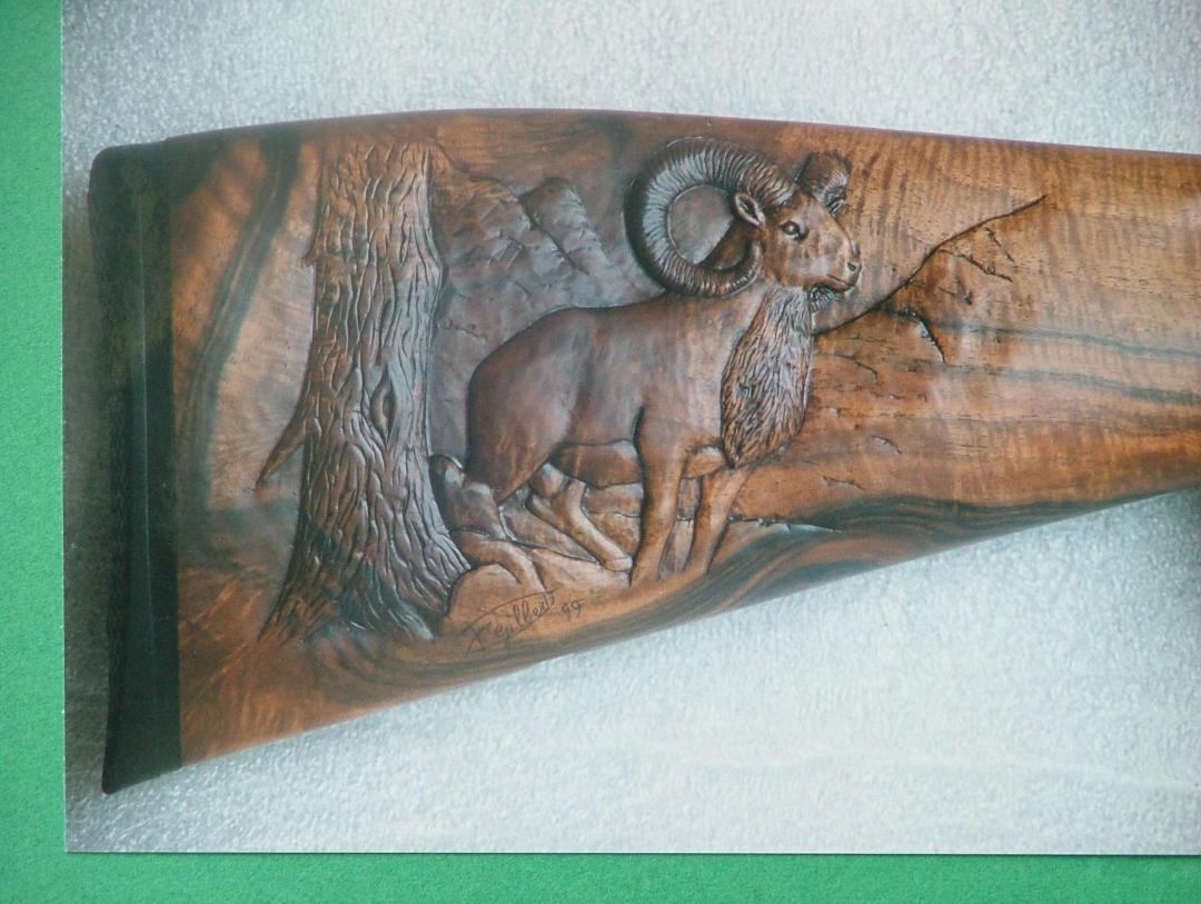 mouflon avec décor