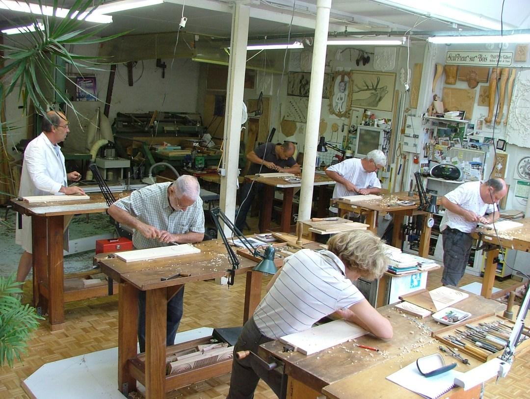 Atelier de gravure sur bois