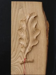 Feuille de chêne en chataiger ,épais de sculp 15mm, Prix 149 €