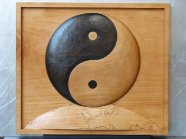 Tableau Ying Yang en tilleul