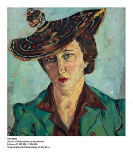 Portrait of Freda Feldman in Basuto Hat to be auctioned in Johannesburg on 23 May 2016