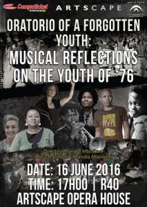 Oratorio of a Forgotten Youth: Musical Reflections on the Youth of '76.