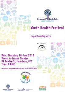Youth Health Festival – 16 June 2016 at Artscape.