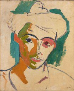 Henri MATISSE Portrait de madame Matisse Collioure 1905 huile sur toile 46x38cm Musée Matisse Nice Don des héritiers Matisse 1963 inv 63.4.6