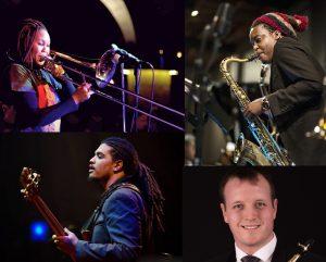 Gauteng semi finalists, clockwise, Siya Charles, Linda Sikhakhane, Matthew Lombard and Benjamin Jephta