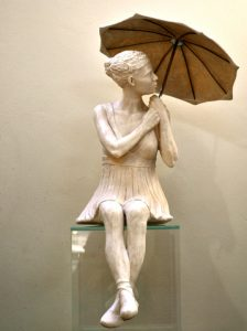 Girl with Umbrella, a work by leading South African artist Marieke Prinsloo, famously known for her series of public art along the Sea Point Promenade, is another highlight on the bidding catalogue for the Grand Gala of 'Chefs who Share.