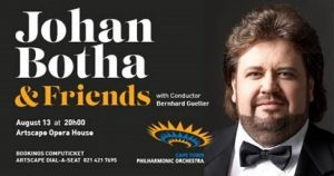 In celebration of life, Johan Botha, one of the world's greatest tenors and a cancer survivor, will sing with the Cape Town Philharmonic Orchestra.