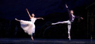 Margaret Severin-Hansen and Gabor Kapin as a Giselle/Wili and Count Albrecht