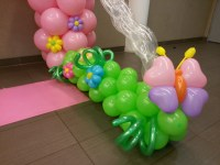 The other side of her balloon garden