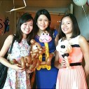 Balloon Sculpting Singapore for birthday parties and events sheep, giraffe and squirrel