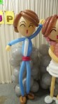 Balloon Sculpting Singapore for birthday parties and events balloon Retro couple