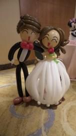 Balloon wedding couple