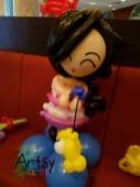 balloon girl table display