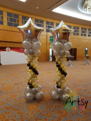 Advance balloon colunns with foil star on top5
