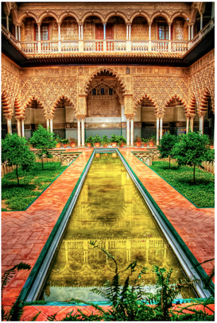 Courtyard in the Alcazar