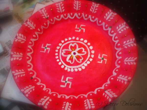 DIY-Thermocol-puja-plate