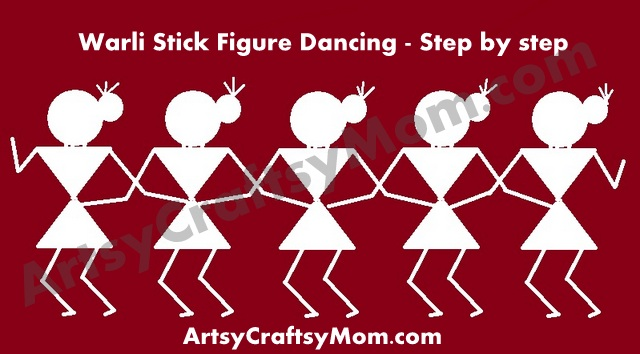 Teaching Warli Drawing Step By Step Images Artsy Craftsy Mom