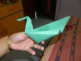 Origami - swan , cat & bag