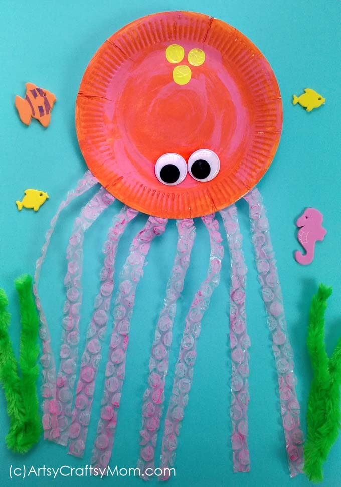 Paper plate octopus craft is an exciting way for kids to learn about ocean creatures while brushing up on some scissor cutting and other fine motor skills.