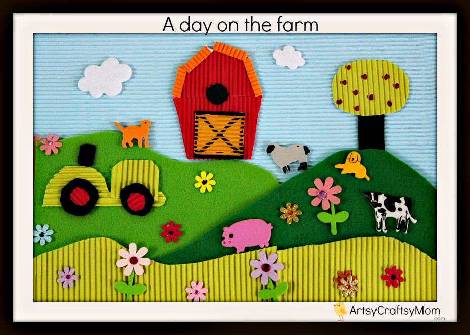 Life on the Farm - Thematic Collage for kids 017
