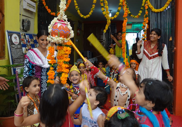 18 Creative Activities to do on Krishna Janmashtami with Kids - Krishna Crown, Decorate Flute, Dahi Handi, Books, Coloring Pages, Jhula Crafts and more how to make Krishna mukut, janmashtami art and craft, janmaastmi drawing, janmashtami celebration ideas