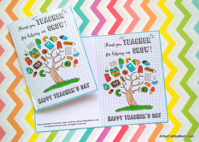 20 awesome teachers day card ideas with free printables save m4hsunfo