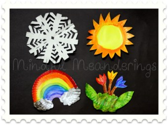 Paper Plate four seasons craft